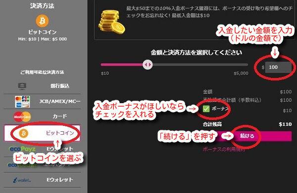 プレイアモ/Play amoから仮想通貨(ビットコイン)で入出金!レート・出金時間等解説